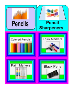 Drawing, Painting and Collage Supply Labels