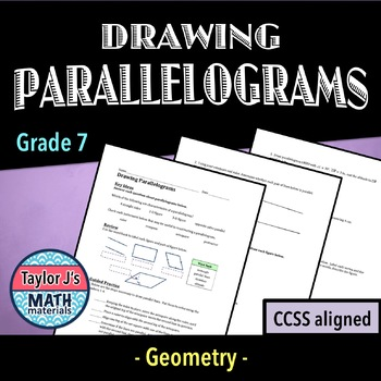 Drawing Parallelograms Worksheet