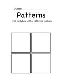 Drawing Patterns Worksheet