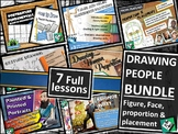 Drawing People BUNDLE: human figure & face (easy middle sc