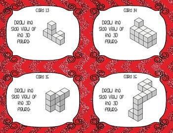 Drawing Perspectives from 3D Solids - Isometric Blocks Task Cards