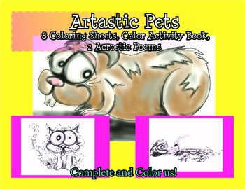 Pet Themed Coloring Sheets and Color Activitiy
