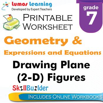Drawing Plane (2-D) Figures Printable Worksheet, Grade 7