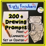 Drawing Art Lesson Prompts - Bulletin Boards - Sub