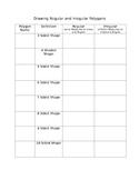 Drawing Regular and Irregular Polygons Worksheet