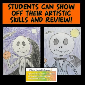 Halloween Drawing Review: Forces and Motion