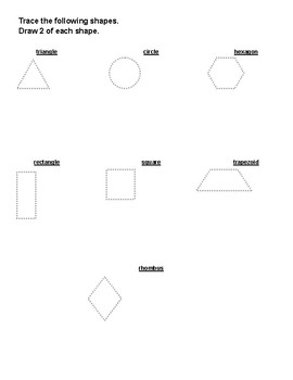 Drawing Shapes and Identifying Attributes