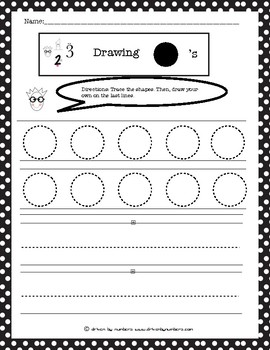 Drawing Shapes: Circles Worksheet by Driven by Numbers | TpT