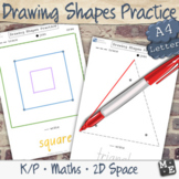 2D SHAPE DRAWING Circle Rectangle Square Triangle Worksheet Activity