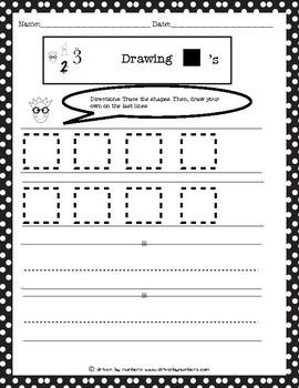 Drawing Shapes: Squares Worksheet
