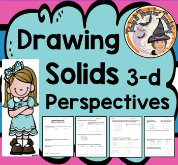 Drawing Solids 3-D Three Dimensional 3D Geometry 3 D Different Perspectives Nets