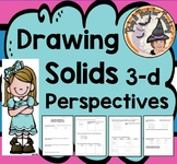 Drawing Solids 3 D Different Perspectives Nets Worksheet Three Dimensional