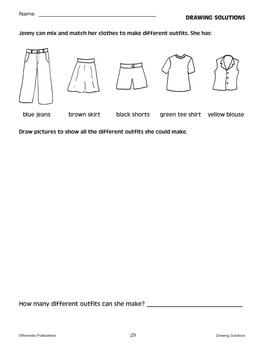 Problem-Solving Practice by Drawing Solutions: Critical Thinking Skills