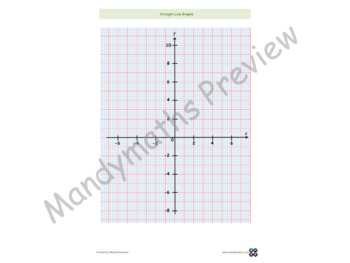 Drawing Straight Line Graphs Worksheets