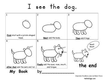 Drawing Templates for Cat and Dog