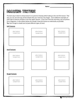 drawing texture lesson worksheet by the squirrelly mind teachers pay teachers. Black Bedroom Furniture Sets. Home Design Ideas
