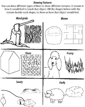 Drawing Textures Worksheet