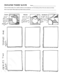 """Drawing Three Ways"" Practice Worksheet for Art"