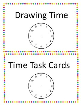 Drawing Time Task Cards