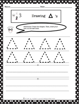 Drawing & Tracing Basic Shapes Bundle
