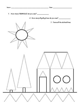 Drawing Triangles Practice Worksheet