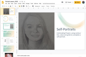 Self-Portraits Drawing Unit - Value, Line, Drawing lessons