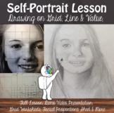 Self-Portrait Drawing Lesson - Proportion, Contour Line and Value Art Lesson