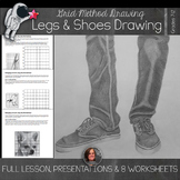Life Sized Legs and Shoes Drawing Lesson