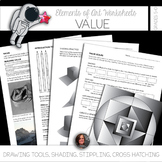 Element of Value Worksheets and Visual Art Mini-Lessons