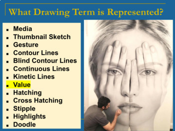 Drawing Vocabulary PowerPoint and Assessment