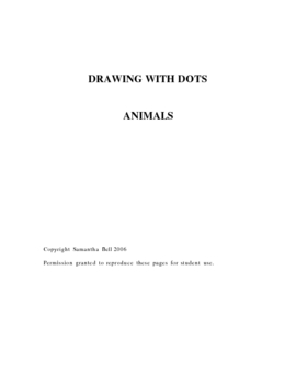 Drawing With Dots - Animals