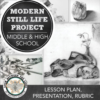 Drawing a Modern, Personalized Still Life: High School Drawing Project