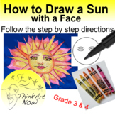 Art Lesson - Draw a Sun with a Face