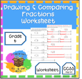 Drawing and Comparing Fractions - Worksheet (4.NF.2)