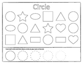 Drawing and Matching Shapes Worksheet Game Set