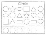 Drawing and Matching Shapes Worksheet Game Set