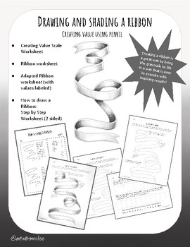 Drawing and Shading a Ribbon: Creating Value with Pencil