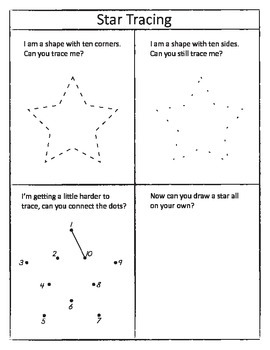 Drawing and Tracing Shapes Worksheet Set by Preschool ...