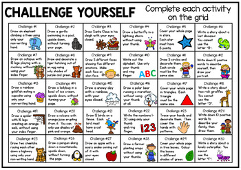 Drawing and Writing Challenge Chart - Early Finishers Activity
