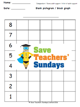 Drawing bar graphs or pictograms lesson plans, worksheets