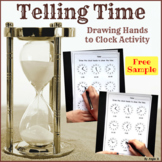 FREE Drawing Hands to Clock Activity - Telling Time