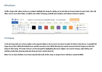 Drawing in Microsoft Word - The Basics