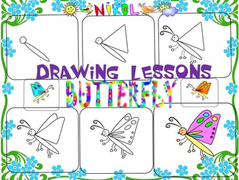 Butterflies - Drawing lessons - Activities - Fun Facts - Clipart