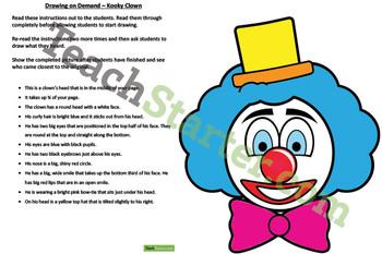 Drawing on Demand – Kooky Clown