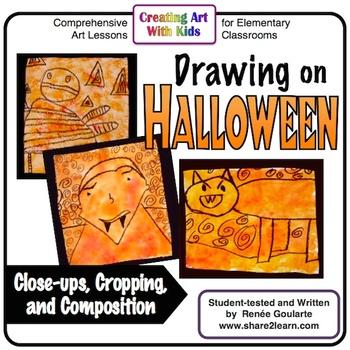 Art Lesson Halloween Drawing