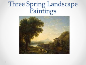 Three Spring Landscape paintings for all ages