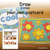 Drawing step by step - make your own postcard