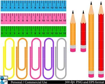 Drawing supplies Digital Clip Art Graphics 55 images cod90