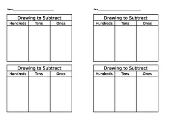 Drawing to Subtract Worksheet