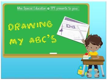 Drawing with ABC's - Beginning Sounds for Preschool, PreK & Kindergarten
